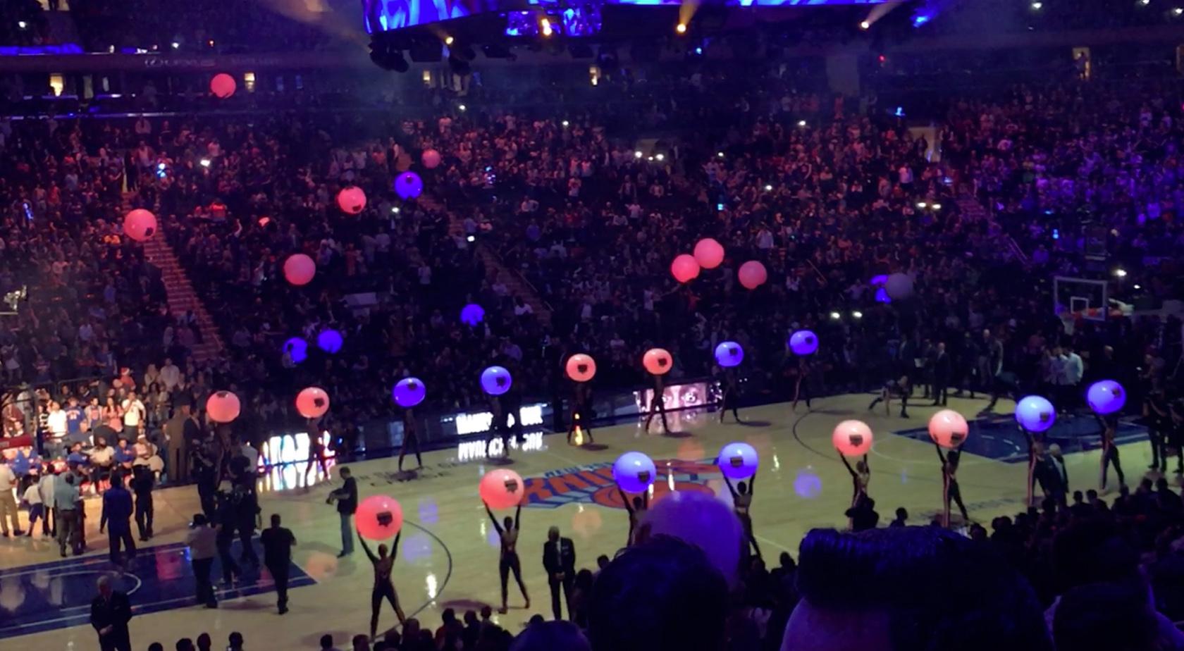 Light Up Balls Add Visual Energy To NY Knicks Season Opener