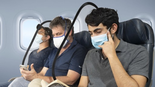 Sneeze Guard Dividers for Airplane Seats