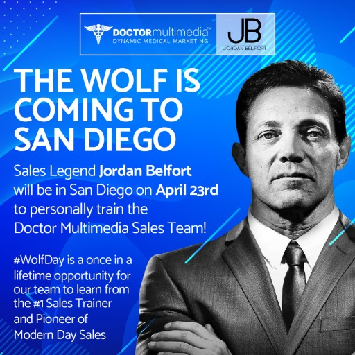 Wolf of Wall Street Trains Sales Team at Doctor Multimedia
