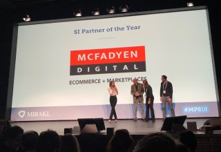 "McFadyen Digital Accepts the Mirakl ""SI Partner of the Year"" Award at Marketplace and Platform Summit 2018"