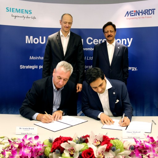 Meinhardt Group International Limited and Siemens Pte Ltd Sign MOU for Technology Collaboration