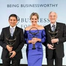 Edgar Montenegro, Founder and CEO of Corpocampo, Lori Blaker, President/CEO TTi Global and Martin Naughton, Founder of Glen Dimplex Group.