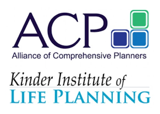 Alliance of Comprehensive Planners and the Kinder Institute of Life Planning Announce Sept. 27 Webcast Date