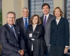 L-R: M. Neubert, A. Lubin, J. Weinstein, D. Skalka, D. Monteith Neubert