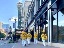 'This is just an intermission' reads the marquee on the iconic Shea's Performing Arts Center in Downtown Buffalo. The coronavirus pandemic was an interruption, but it won't keep the city down, say the city's Volunteer Ministers.