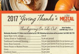 Thanksgiving Takeout Pre-Order 2017