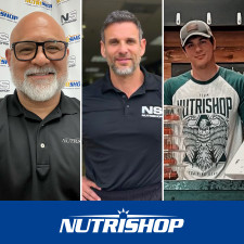 L-R: Nutrishop Franchisees Rick Rodriguez (SoCal), Evan Eaton (Florida), and Mike DeCardenas (Texas)