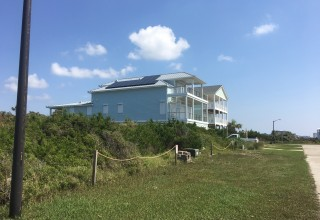 Oak Island home and solar panels installed by Cape Fear Solar were tested by hurricane Florence.
