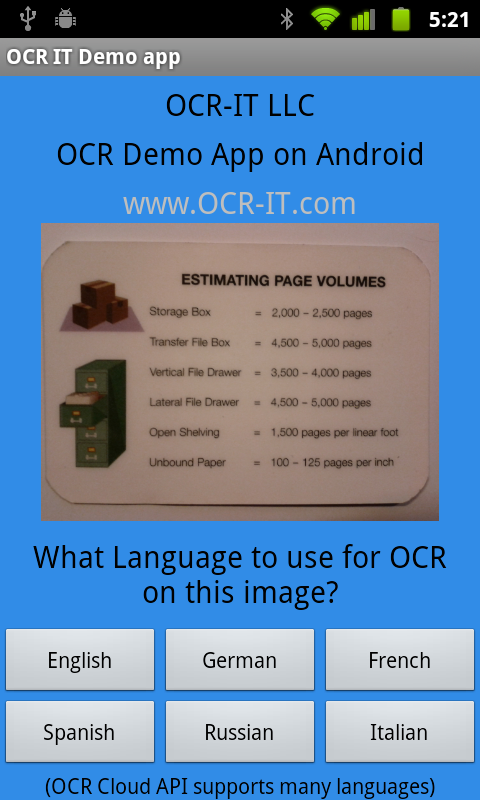 OCR-IT Demonstrates Power of OCR with Free Android App and Supports