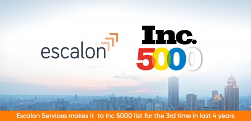 Inc. Magazine Places Escalon Services on the Inc. 5000 for Third Time in Four Years