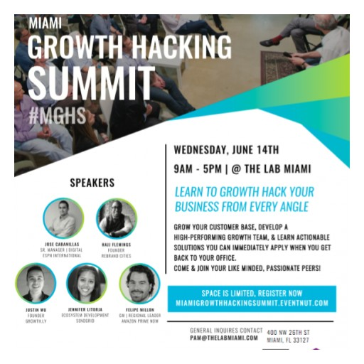Lab Ventures Announces Miami's First Growth Hacking Summit, June 14, 2017, at The LAB Miami