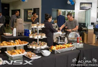 Customers enjoying the NSX Test Drive Experience Event