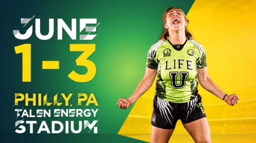 Men's Saturday Match Schedule Released for the 24-Team Men's Rugby 7s Field in the 2018 Penn Mutual Collegiate Rugby Championship, June 1st to 3rd at Talen Energy Stadium in Philadelphia