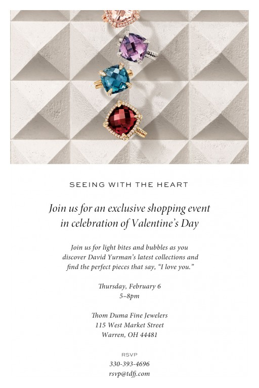 From Feb. 6-9, Jeweler Thom Duma Fine Jewelers Will Be Holding a Special David Yurman Event