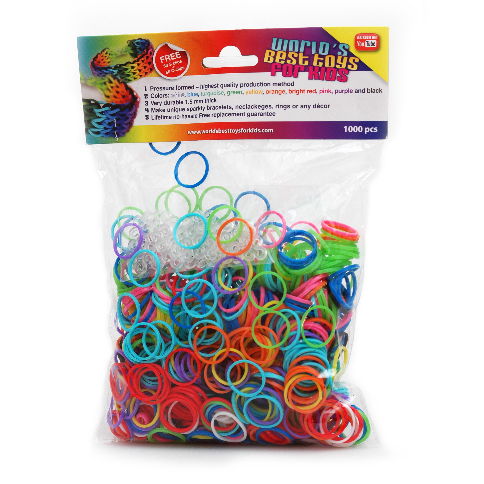 New Rainbow Loom Rubber Band Refills Feature Compression