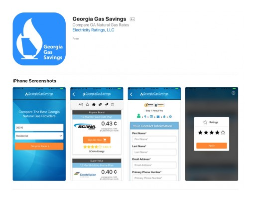 Georgia Gas Savings Launches Georgia Natural Gas Mobile Shopping Apps