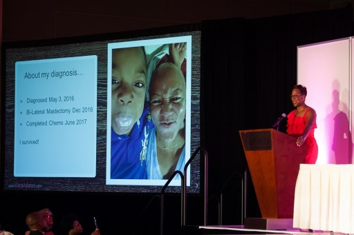 Breast Cancer Survivor Speaks to Sold-Out Crowd