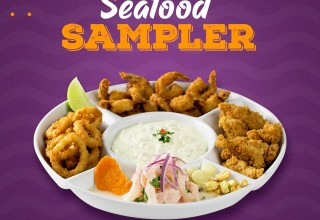 Experience the Seafood Sampler. Simply Delicious!