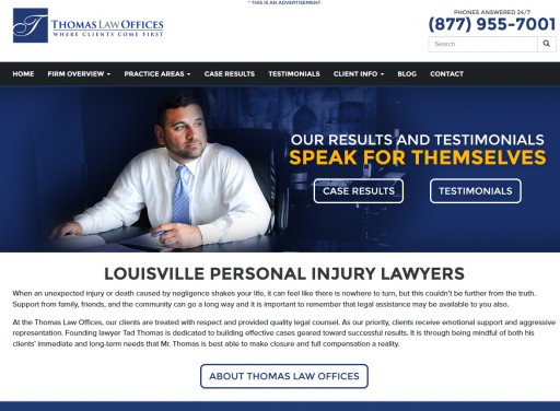 Thomas Law Offices Launches Newly-Designed Website and Content Update Plan