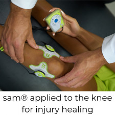 sam applied to the knee for injury healing