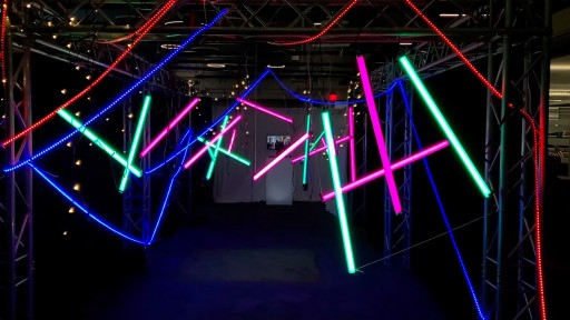 ​A Maze of LED Light Creates an Event Entrance Experience by TLC Creative Technology