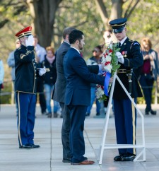 David L Hernandez Jr. and  Ronald T. Principe Jr. of Jersey Memorial Group have the honor of placing a memorial wreath at the Tomb of the Unknown Solider in Arlington National Cemetery.