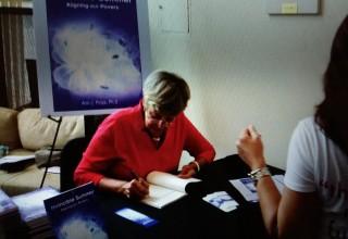 Dr Polya at book signing