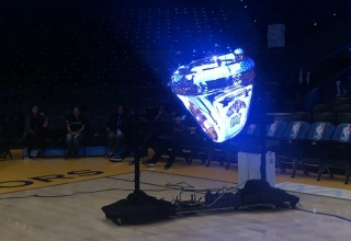 Hypervsn Wall Created on a Mobile Rig for an NBA Game - Displays 6-Foot-Wide 'Holograms'