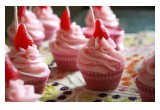 Wick'd Confections Sugary Strawberry Premium Cupcake Candles