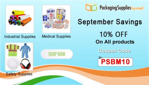 PackagingSuppliesByMail Announces Sitewide Sale on All Website Orders to Encourage Professional Packaging Mechanisms