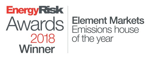 Element Markets Named Emissions House of the Year for an Unprecedented Third Time by Energy Risk Magazine