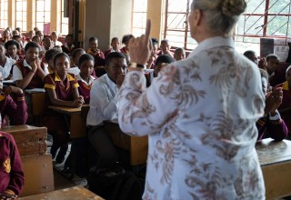 Workshop at a township school in Gauteng
