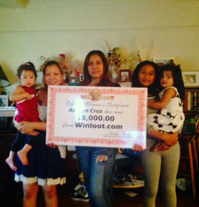 L A  Woman Wins $5,000 Instantly at Winloot com Sweepstakes