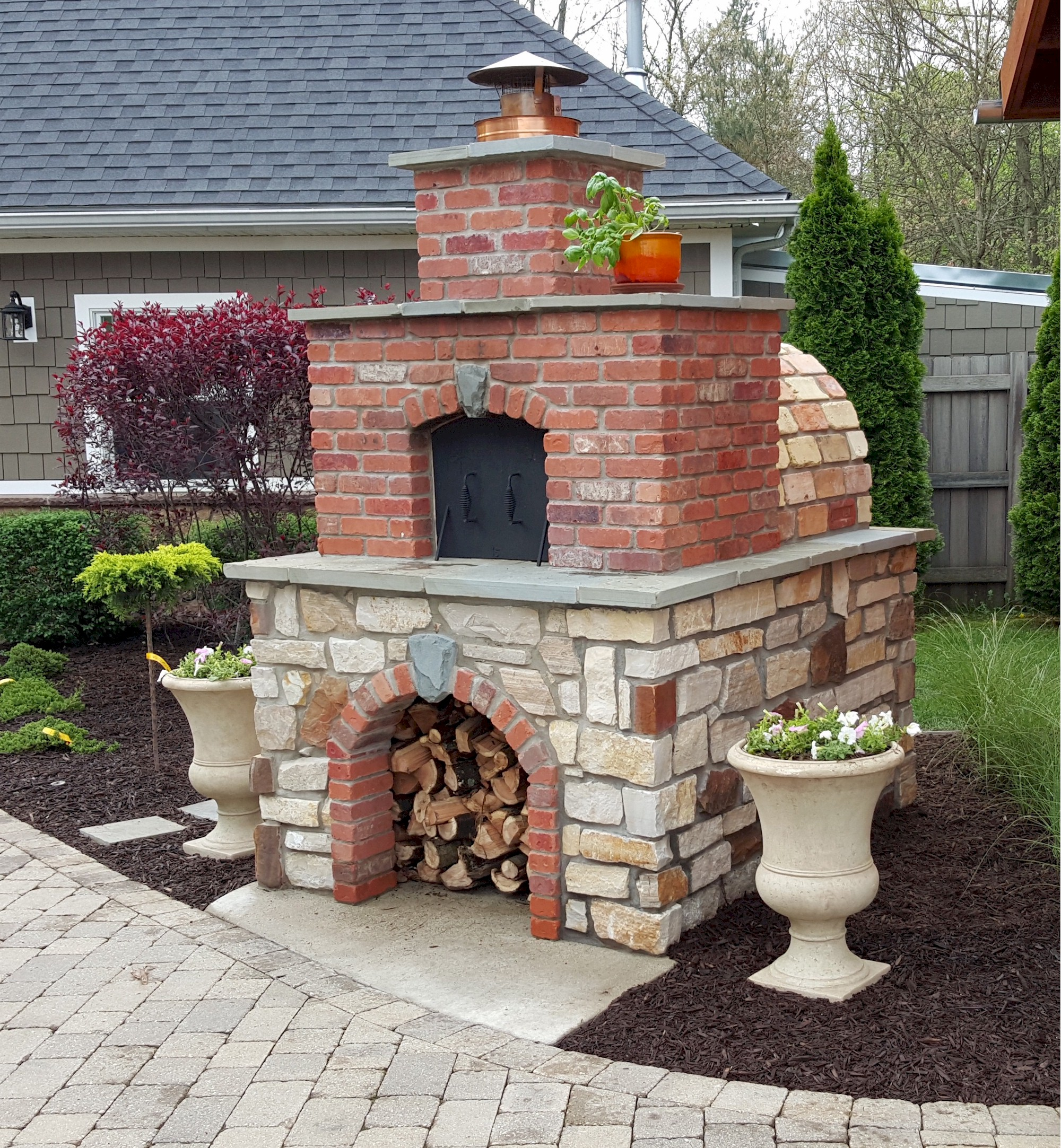 Backyard Brick Pizza Oven diy wood-fired outdoor brick pizza ovens are not only easy to build