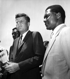 Tom Mboya and John F. Kennedy July 26, 1960