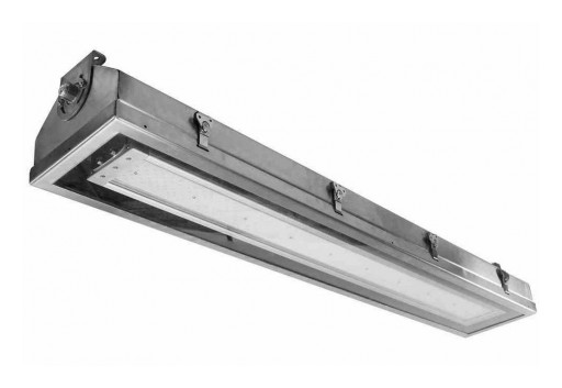 Larson Electronics Releases Hazardous Area Integrated LED Light Fixture, 19,200 Lumens, 30˚ Angle Wall Mount