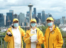 Volunteer Ministers from the Church of Scientology Seattle, active throughout the pandemic to help