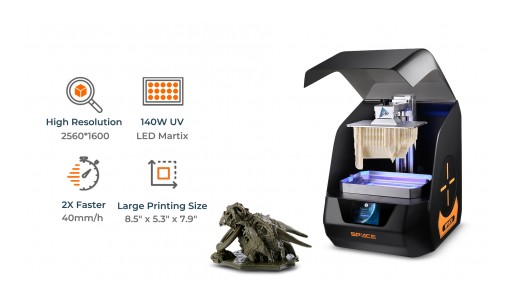 SPACE 3D Launches and Makes Large-Scale SLA 3D Printing Affordable for Everyone