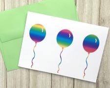 Handmade Foiled Balloon Card
