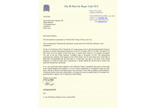 Letter to the Prime Minister