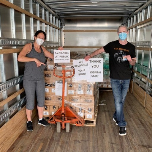 Stacy Madison, Founder of Stacy's Pita Chips and BeBOLD Bars, Donates Bars, Meals, Chips and Masks to Front-Line Workers on the East Coast