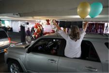 Drive-through graduation at HCSS