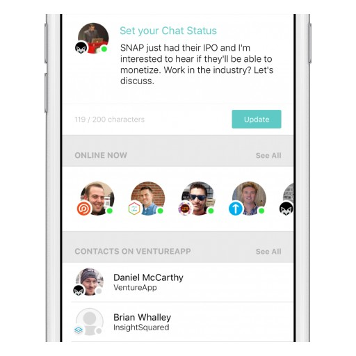 VentureApp Raises $4M in Funding to Accelerate Growth of Professional Chat Platform