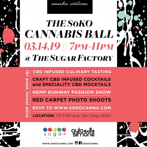 Culinary Meets Cannabis and Fashion: CBD-Infused Drinks and Food Come to the Entertainment Industry at the 4th Annual SoKo Cannabis Ball in San Diego
