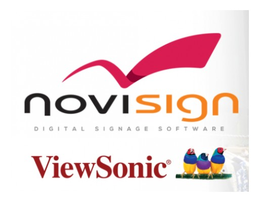 NoviSign Digital Signage and ViewSonic Reveal New Partnership to Provide Exquisite Digital Signage Software & Display Solutions for Education and Restaurant Applications