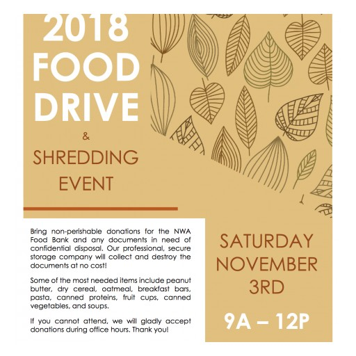 NWA Law Firm Hosts Food Drive and Shredding Event
