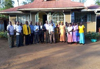 A congregation after one of Okello's seminars