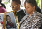 Freda Waiters at the her son Ariston's Memorial Ceremony