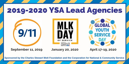 Youth Service America Announces 2019-2020 Lead Agencies for National Days of Service