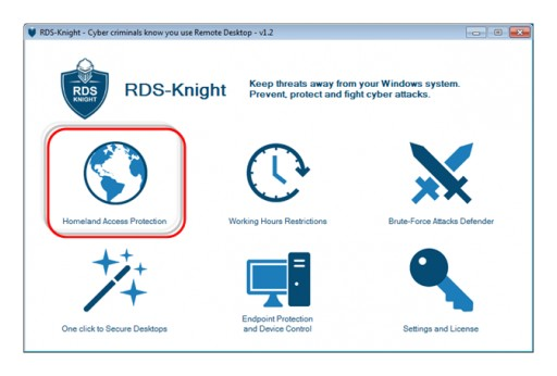 RDS-Knight Enables Homeland Protection for Remote Desktop Connections